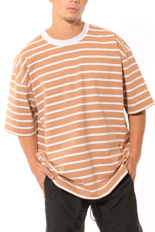 HEAVYWEIGHT OVERSIZED STRIPE TEE