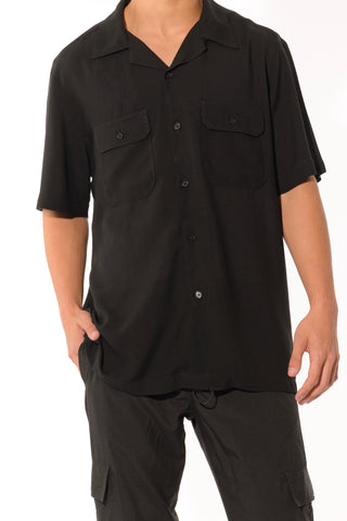 CAMP SHIRT - BLACK