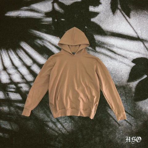 ESSENTIAL HOODIE WITH ZIP - NUDE