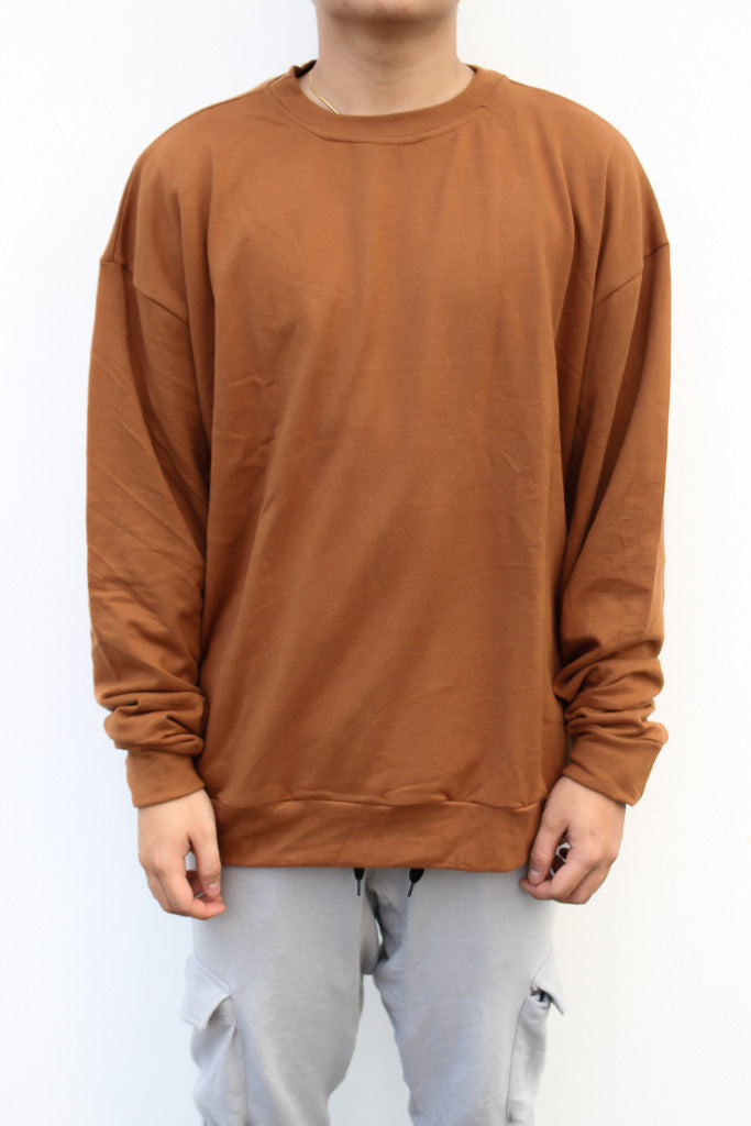 Sweatshirt in Brick Red