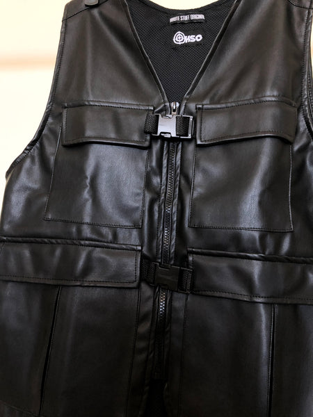 HSO VEST - BLACK LEATHER