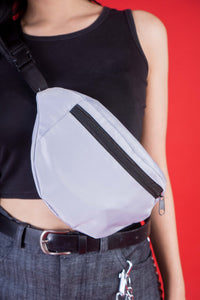 FANNY PACK - SILVER GRAY