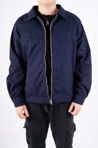 TWILL JACKET IN NAVY BLUE