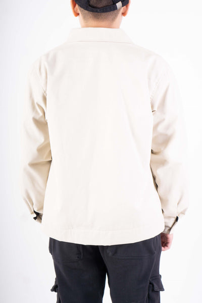 TWILL JACKET IN OFF WHITE