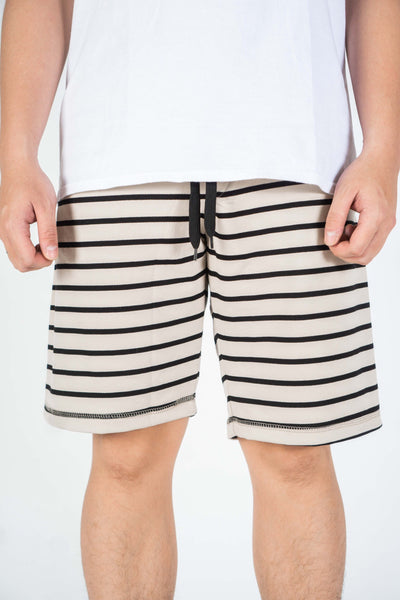 BASIC STRIPE SHORT IN NUDE