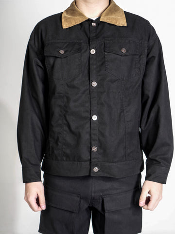 VINTAGE TRUCKER JACKET - BLACK