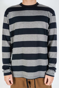 STRIPE LONGSLEEVE GRAY/BLACK