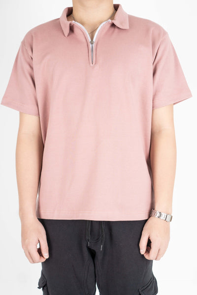 POLO W/ ZIP IN FLAMINGO PINK