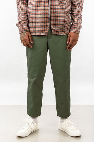 CROPPED TROUSER - OLIVE GREEN