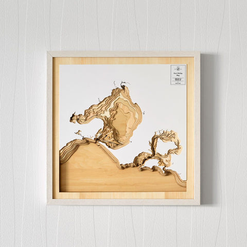 3D Wooden Contour Map of Port Phillip Bay