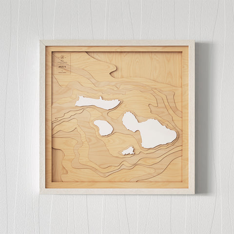3D Wooden Contour Map of Maui