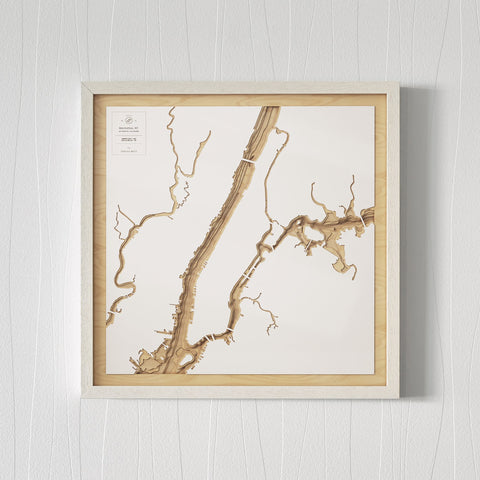 3D Wooden Contour Map of Manhattan