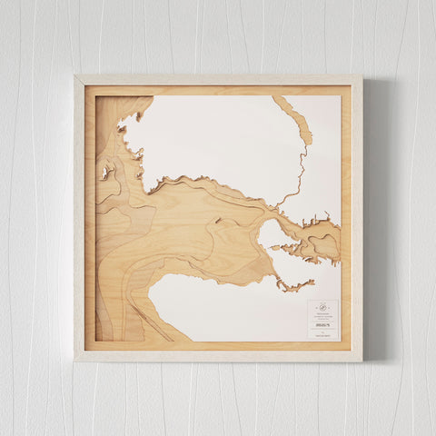 3D Wooden Contour Map of Vancouver