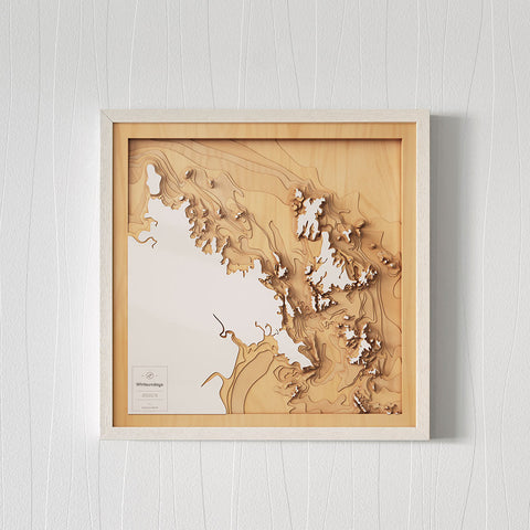 3D Wooden Contour Map of Whitsundays
