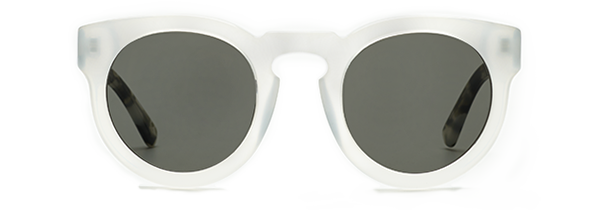 CALYER Opaque White & Carbon Tortoise