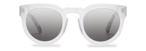 CALYER Opaque White & Carbon Tortoise with Silver Lenses