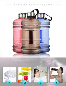 2.2L Large Water Bottles Half Gallon Fitness
