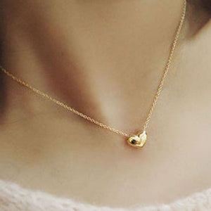 Gold Heart Necklace Pendant