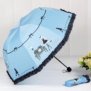 Beautiful Girl Pattern Umbrella