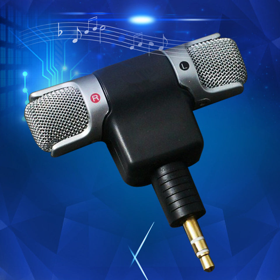 Mini Stereo Microphone Mic 3.5mm