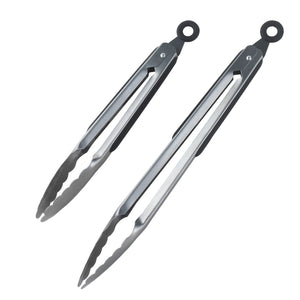 Stainless-steel Locking Kitchen Tongs