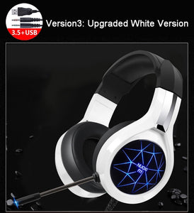 Deep Bass Headset with Mic LED
