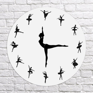 Dancing Ballerina Wall Clock