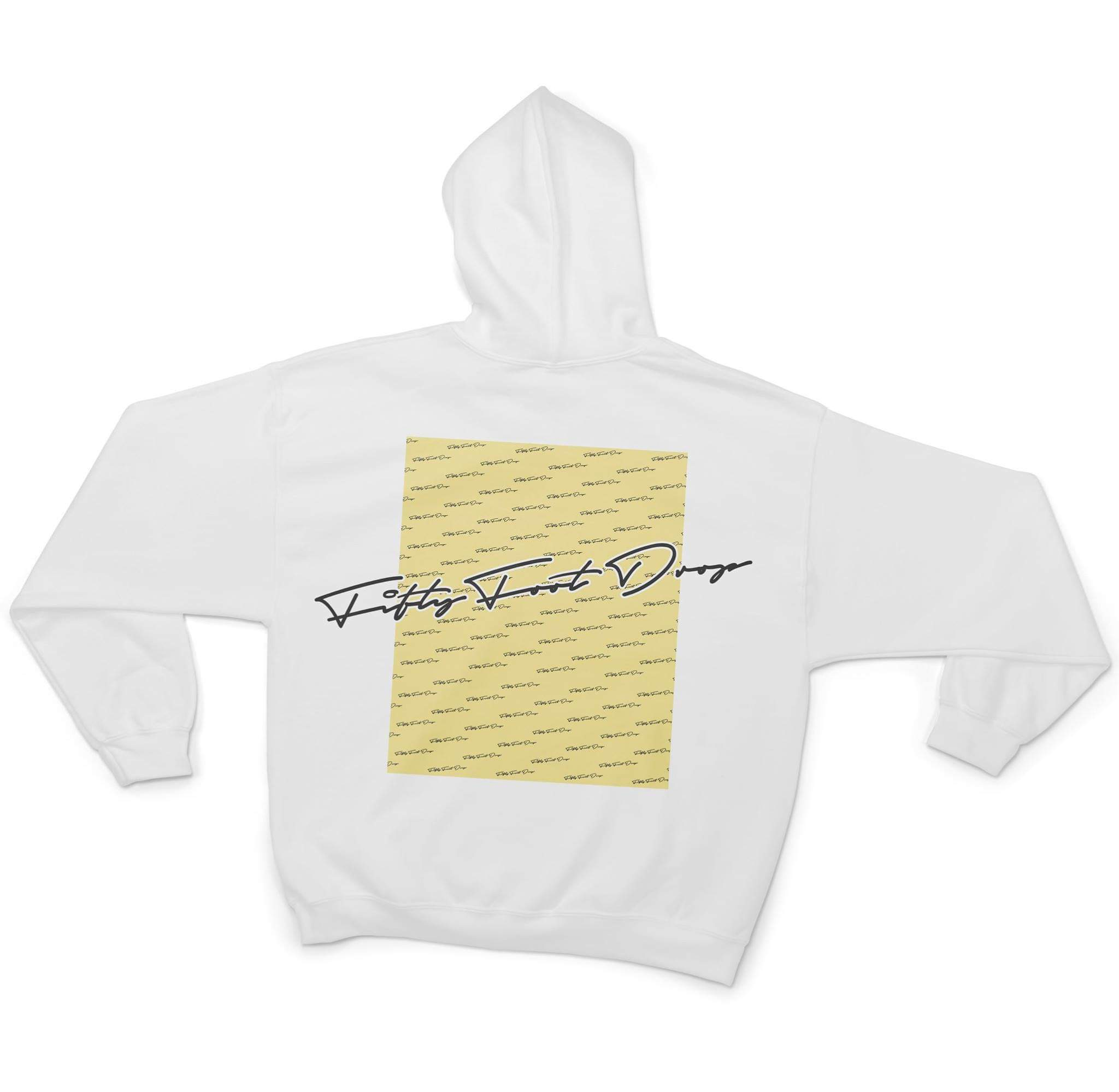 LEMON BOX - FIFTY FOOT DROP - WHITE HOODIE