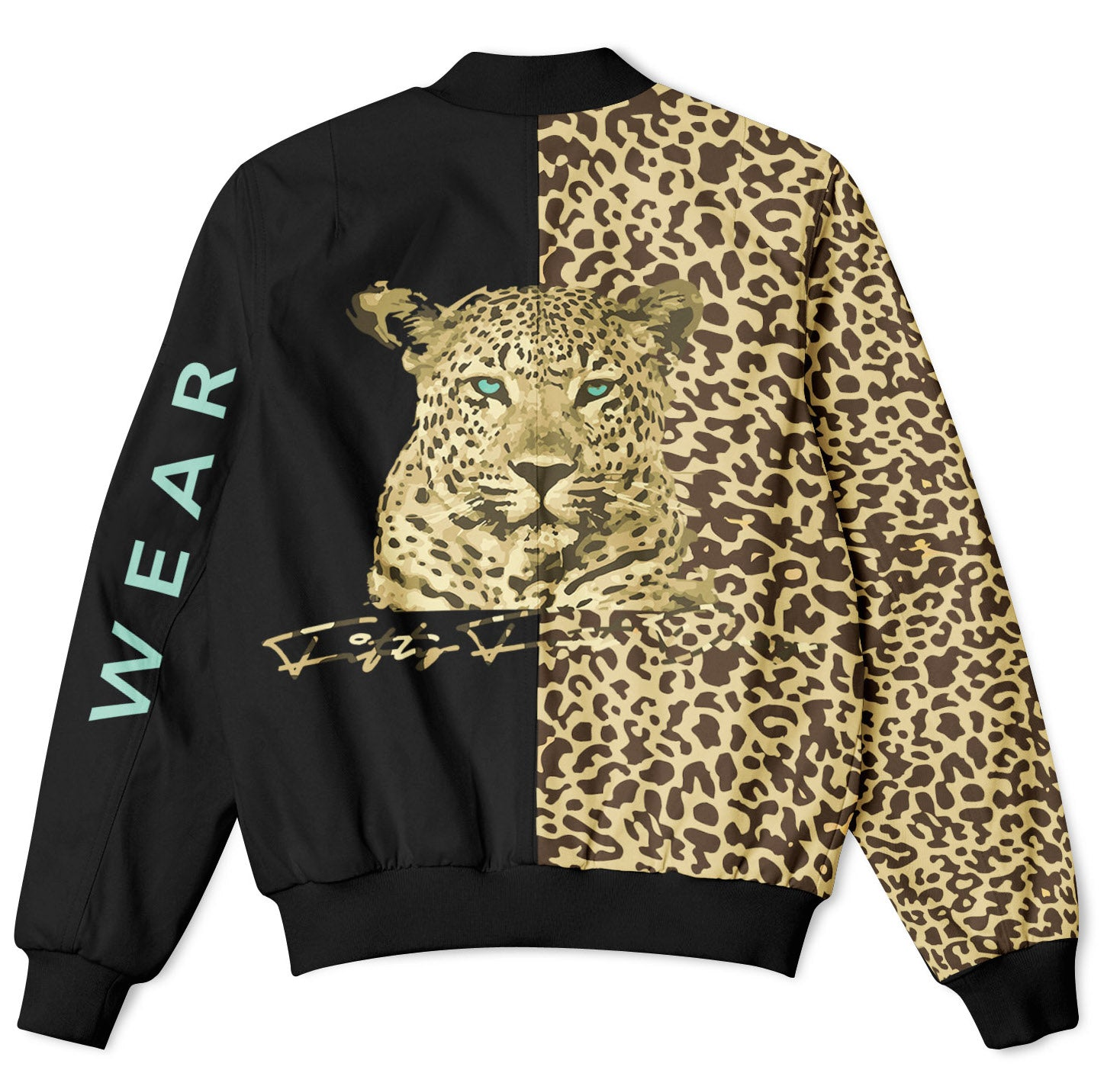 HALF ANIMAL HALF AMAZING - FIFTY FOOT DROP - LEOPARD BOMBER JACKET  Fifty Foot Drop  fresh-on-road.myshopify.com Fifty Foot Drop