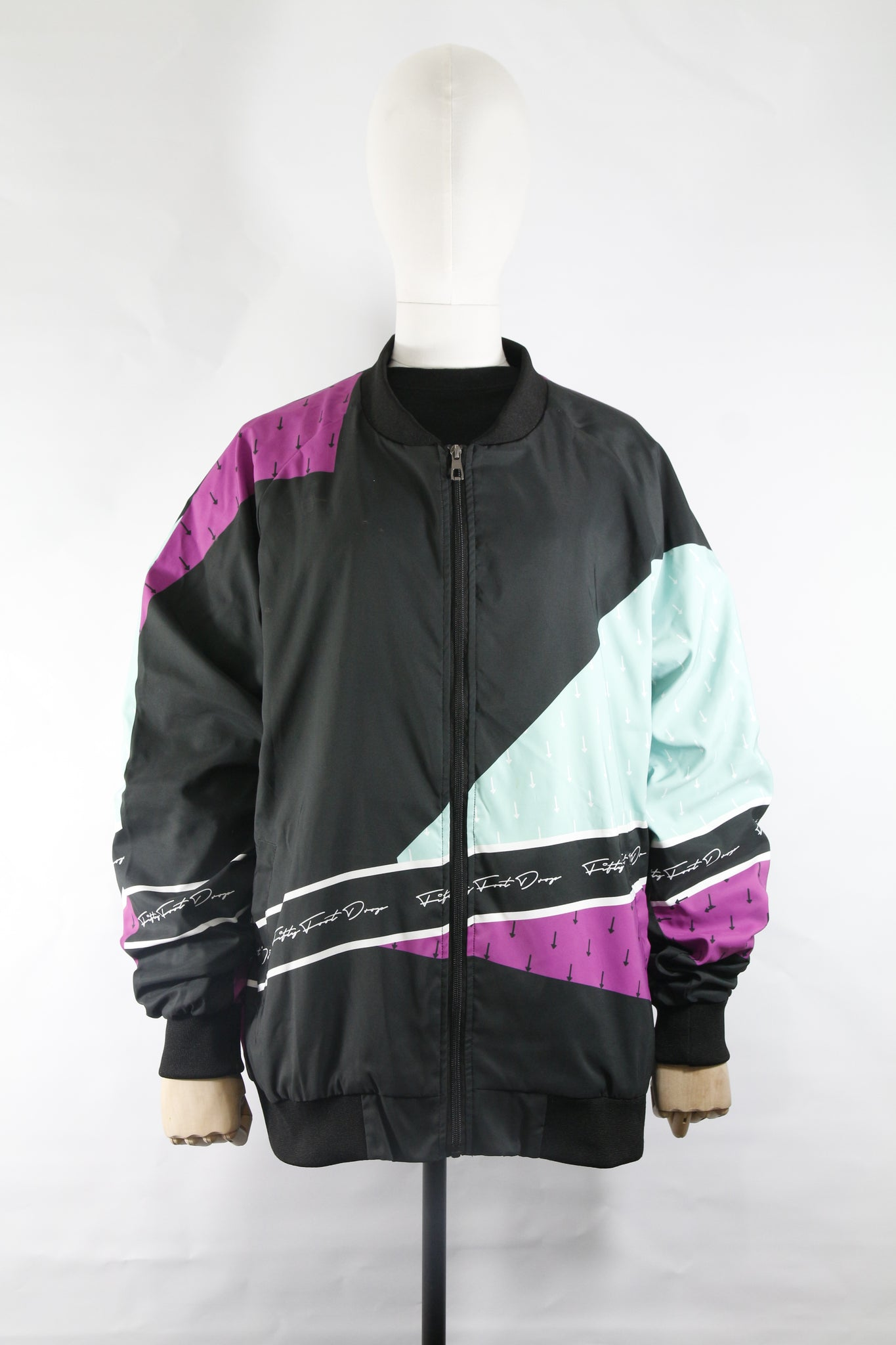 MINT GRAPE RETRO - BOMBER JACKET  Fifty Foot Drop  fresh-on-road.myshopify.com Fifty Foot Drop