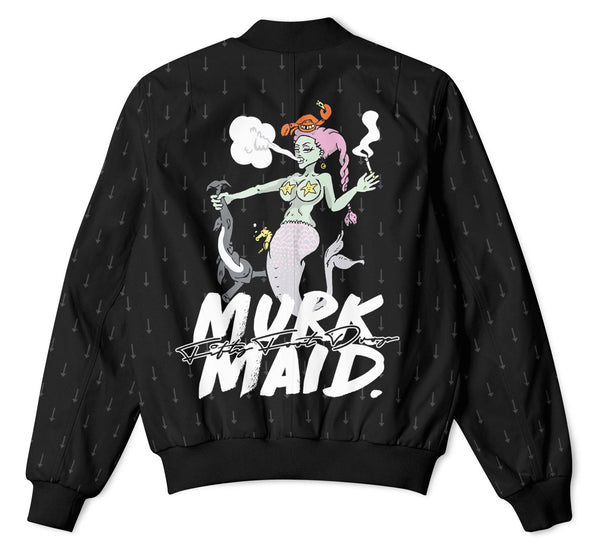 MURK MAID - FIFTY FOOT DROP - BOMBER JACKET  Fifty Foot Drop  fresh-on-road.myshopify.com Fifty Foot Drop