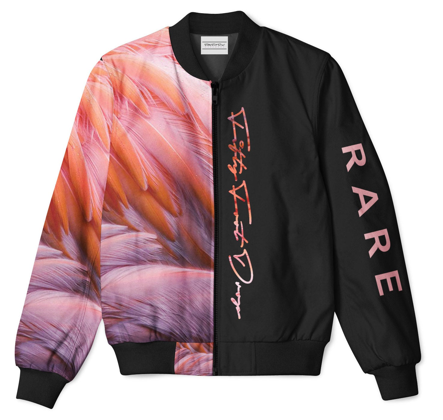 HALF ANIMAL HALF AMAZING - FIFTY FOOT DROP - FLAMINGO BOMBER JACKET  Fifty Foot Drop  fresh-on-road.myshopify.com Fifty Foot Drop