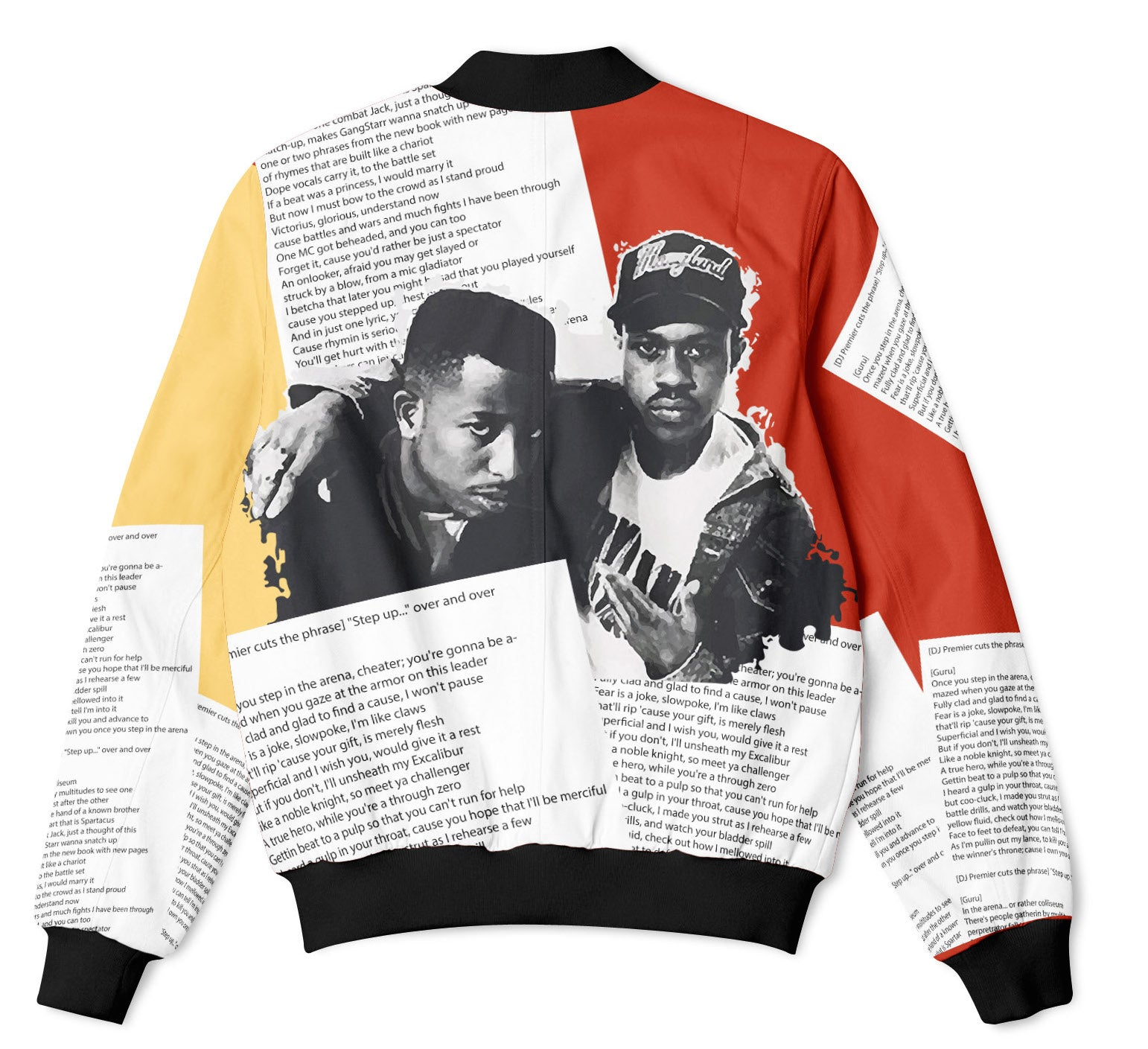 GANGSTARR - FIFTY FOOT DROP - COLOUR BOMBER JACKET  Fifty Foot Drop  fresh-on-road.myshopify.com Fifty Foot Drop