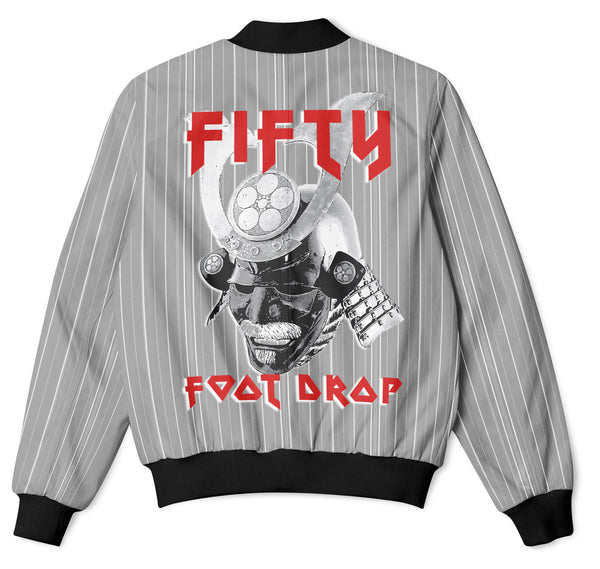 RONIN - FIFTY FOOT DROP - GREY  BOMBER JACKET  Fifty Foot Drop  fresh-on-road.myshopify.com Fifty Foot Drop