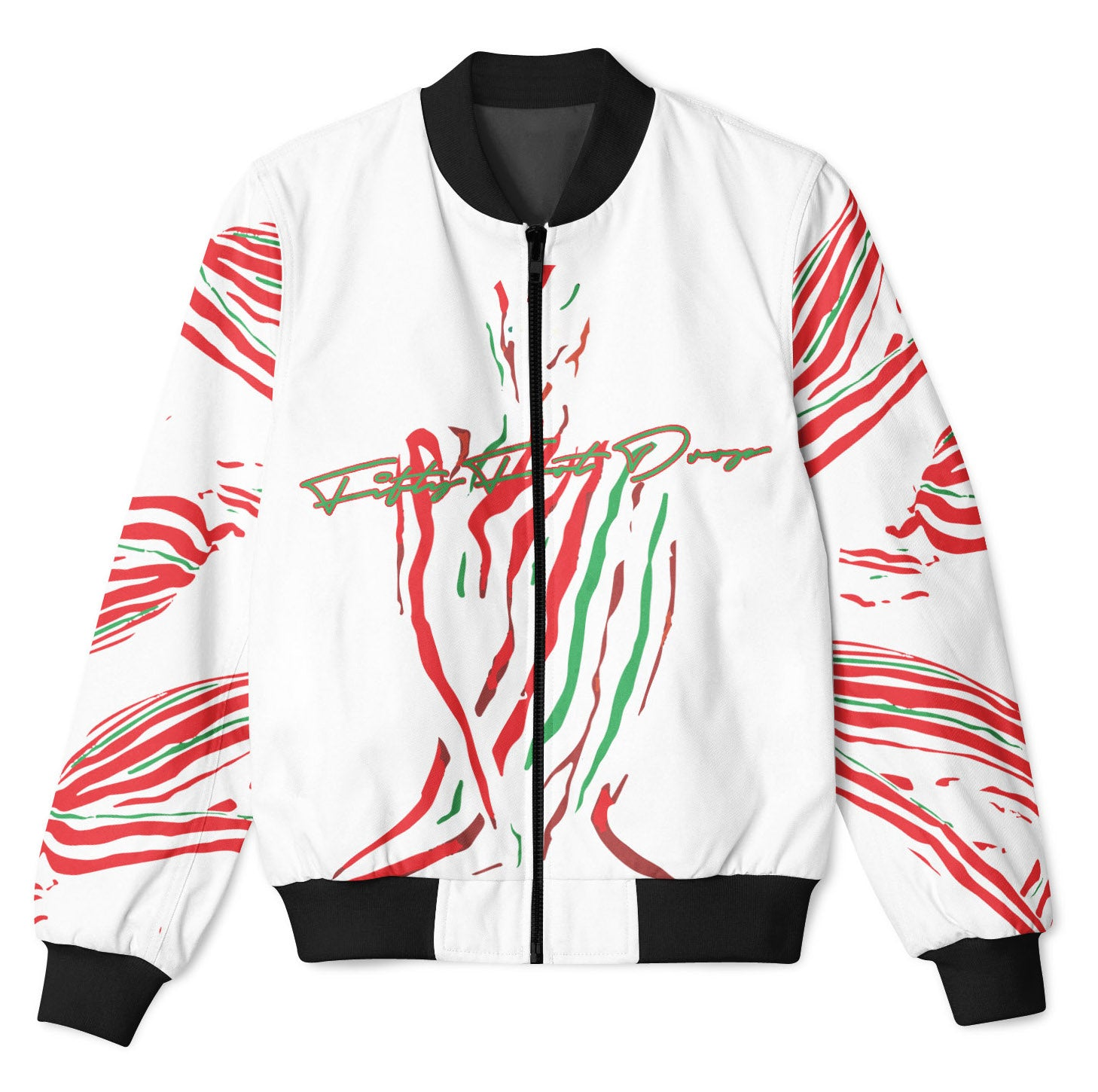 ATCQ WHITE - FIFTY FOOT DROP - BOMBER JACKET  Fifty Foot Drop  fresh-on-road.myshopify.com Fifty Foot Drop