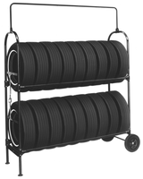 two tier mobile tire rack