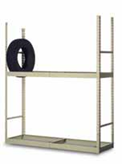 2 tier stationary boltless tire rack