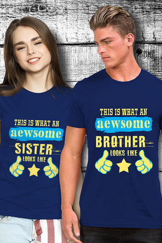 Awesome Sister And Brother T shirt