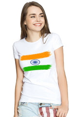 Indian Flag White T-Shirt