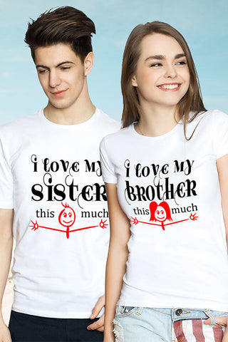 I LOVE MY SISTER AND BROTHER T-Shirts