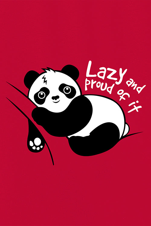 Lazy and Proud Panda Full Sleeve T-Shirt