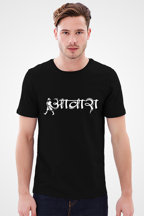 Buy Awara Black T-Shirt For Mens Online Shopping