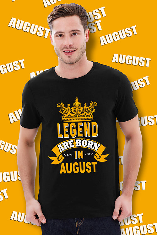 Buy Legend Are born in August T Shirt online