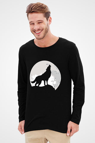 Wolf Howling Full Sleeve T-Shirt