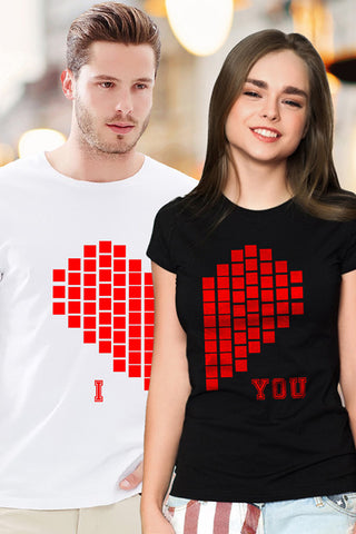 I LOVE YOU Couple Tshirt