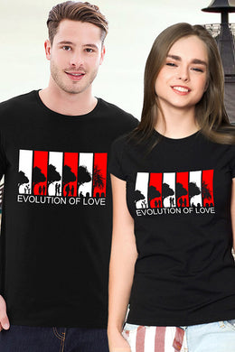 Evolution Of Love Couple T shirt