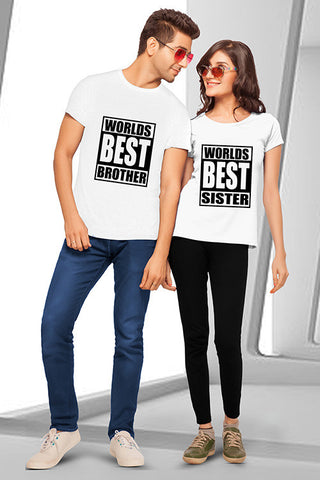 Worlds Best Brother & Sister T-shirt