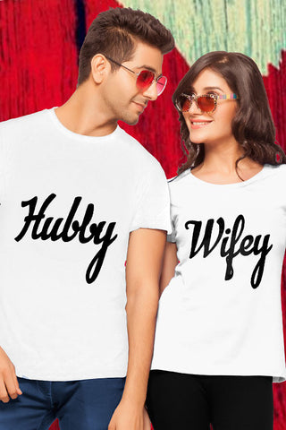 Hubby Wifey Couple Tees