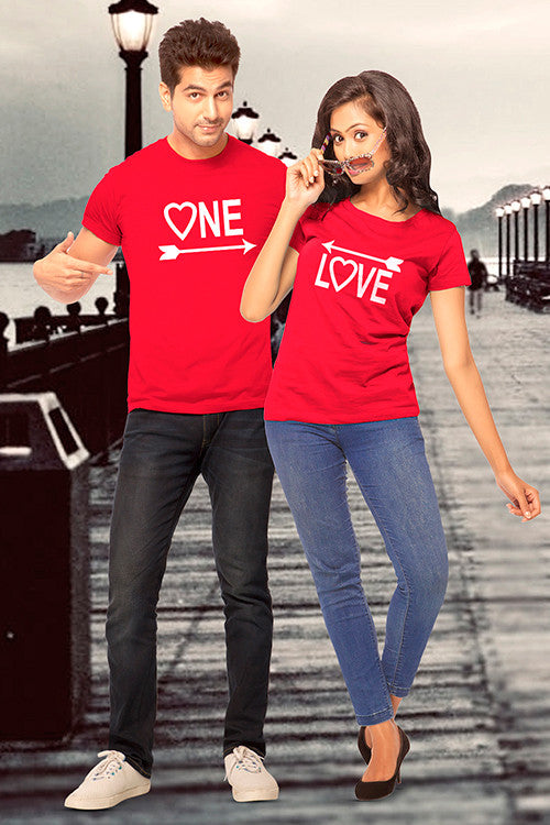 One Love Couple T Shirt