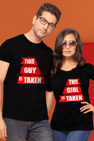 Guy & Girl Couple T-Shirts